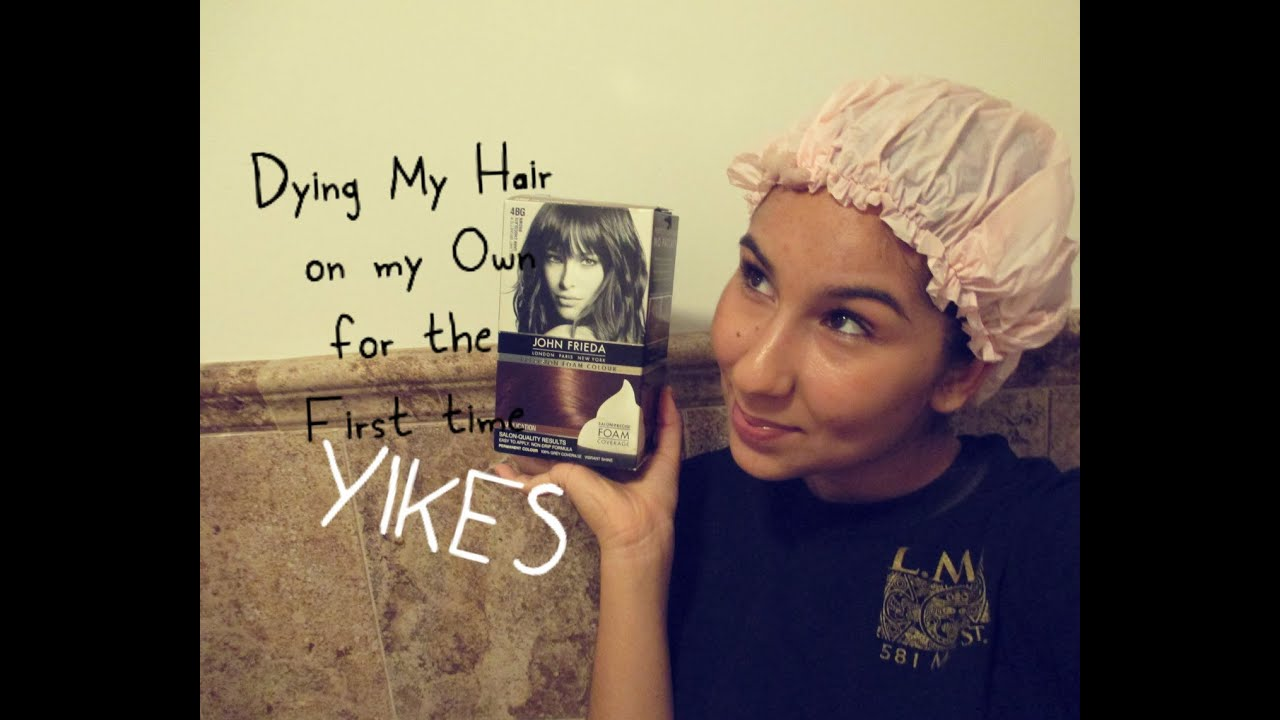 Dyed My Hair With The John Frieda Foam Dye Youtube