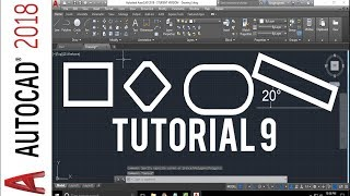 Rectangle command in autocad 2018 - how to draw a rectangle in autocad 2018