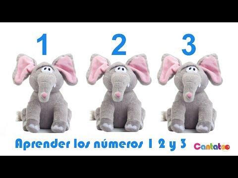 Aprender los números 1, 2 y 3 con la canción de los elefantes