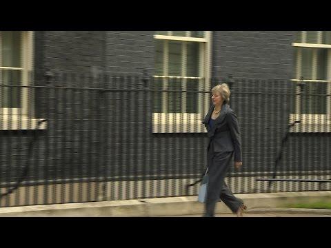 Theresa May heads to David Cameron's last cabinet