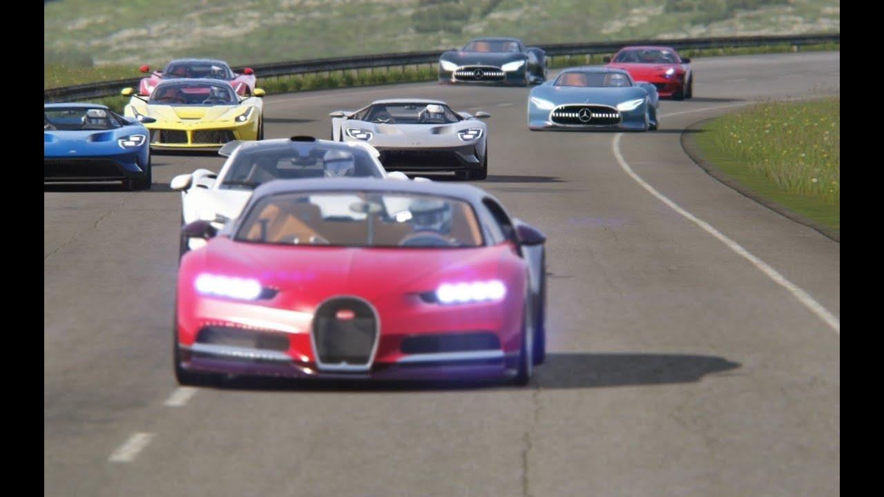 Battle Mercedes-Benz Vision GT Concept vs Super Cars at Highlands