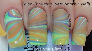 Easy Color Changing Watermarble Diy Nail Art Tutorial