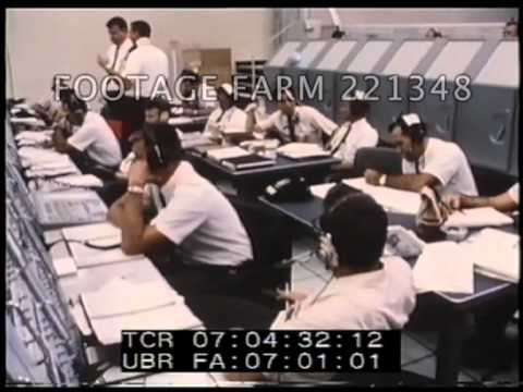 Houston Command Center; Saturn V Rocket Lift Off 221348-01.mp4 | Footage Farm