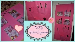 Diy Wall Organizer ♡ No Sew!