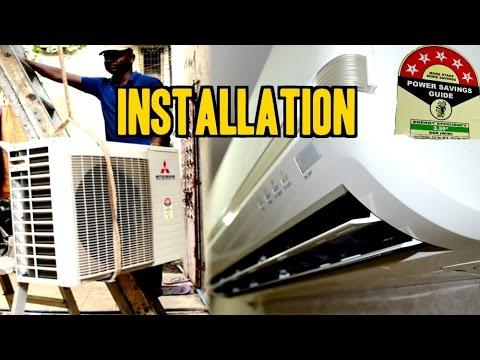 Split Air Conditioner [A/C] INSTALLATION | Mitsubishi [1.5Ton 5 Star SRK 20  CKS 6] | IndianConsumer