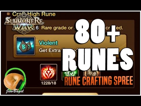 SUMMONERS WAR : 80+ Runes Crafting Spree :D