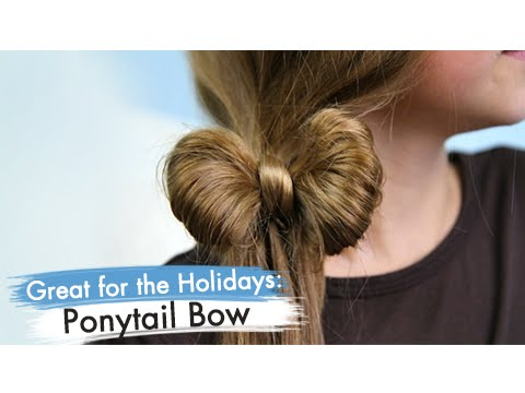 Ponytail Bow Back-to-School Cute Girls Hairstyles - YouTube