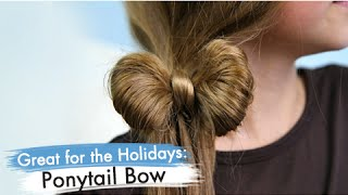 One of Cute Girls Hairstyles's most viewed videos: Ponytail Bow | Back-to-School | Cute Girls Hairstyles