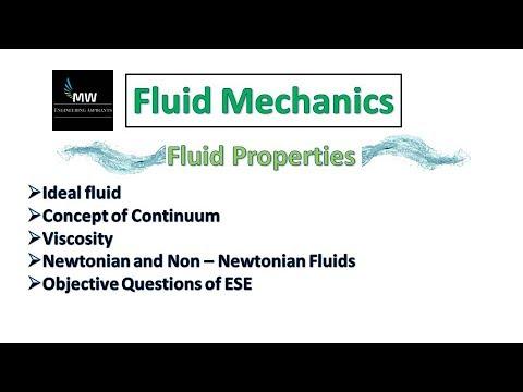 F1. Properties of Fluid-I || Fluid Mechanics || Based on IES/GATE/PSU syllabus (Hindi)