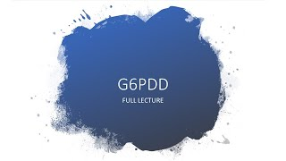 This video is about G6PD deficiency. G6PD Deficiency is the most common genetic defect. Most of the .