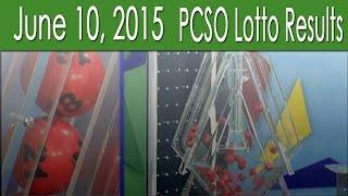 PCSO Lotto Results June 10, 2015 (6/55, 6/45, Swertres, 4D & EZ2)