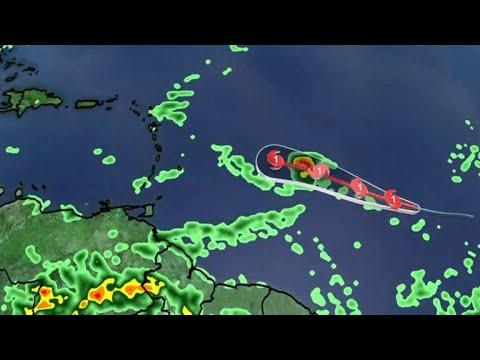 Hurricane Beryl forms in Atlantic Ocean