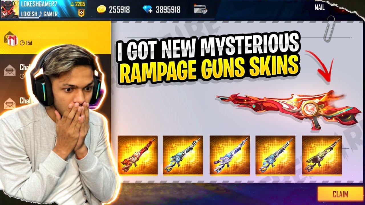 I Got New Mysterious Rampage Gun Skin 😱😱😱 Superpower Skin Garena Free Fire