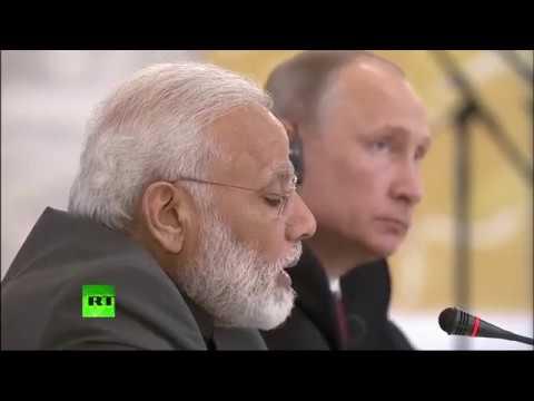 Putin & Indian PM Modi address media after talks at SPIEF