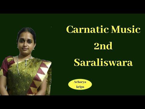 sarali swaras 2nd saraliswara Learn how to sing Carnatic music vocal