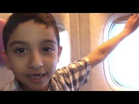 Flying on Emirates Plane - From Birmingham to Dubai