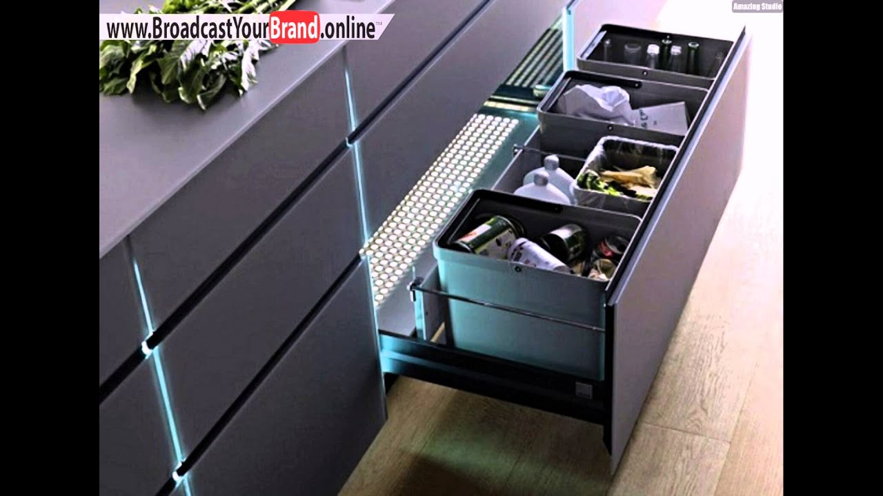 stauraum moderne k che eingebaute led beleuchtung youtube. Black Bedroom Furniture Sets. Home Design Ideas