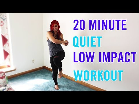20 Min QUIET Low Impact Home or Small Space Workout | Silent Cardio, Strength & Abs - No Equipment