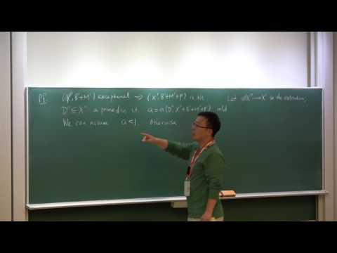 Talk 10: Exceptional pairs, section 7 of [1] -Yifei Chen (Chinese Academy of Sciences)