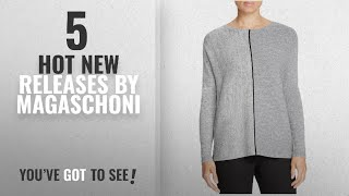 Hot New Magaschoni Women Clothing [2018]: Magaschoni Womens Knit Stitch Block Pullover Sweater