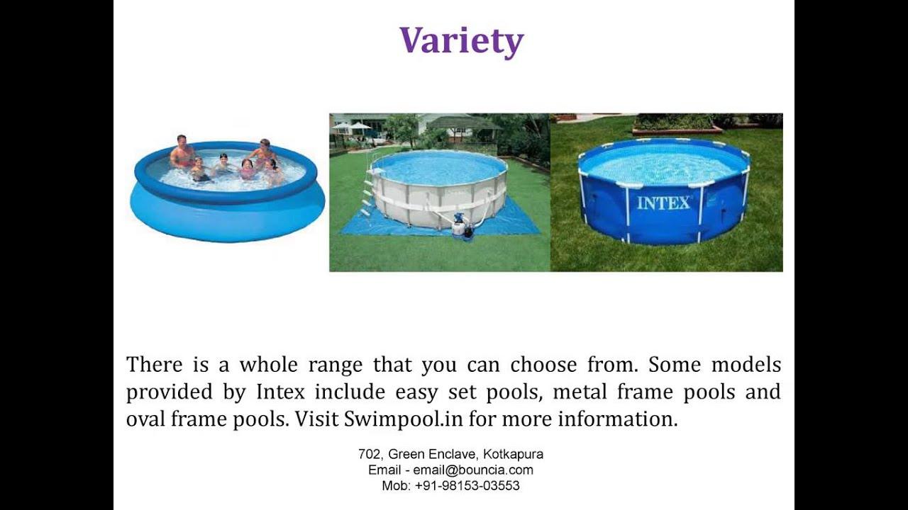 Feature of Intex Swimming Pool: Swimpool.in - YouTube