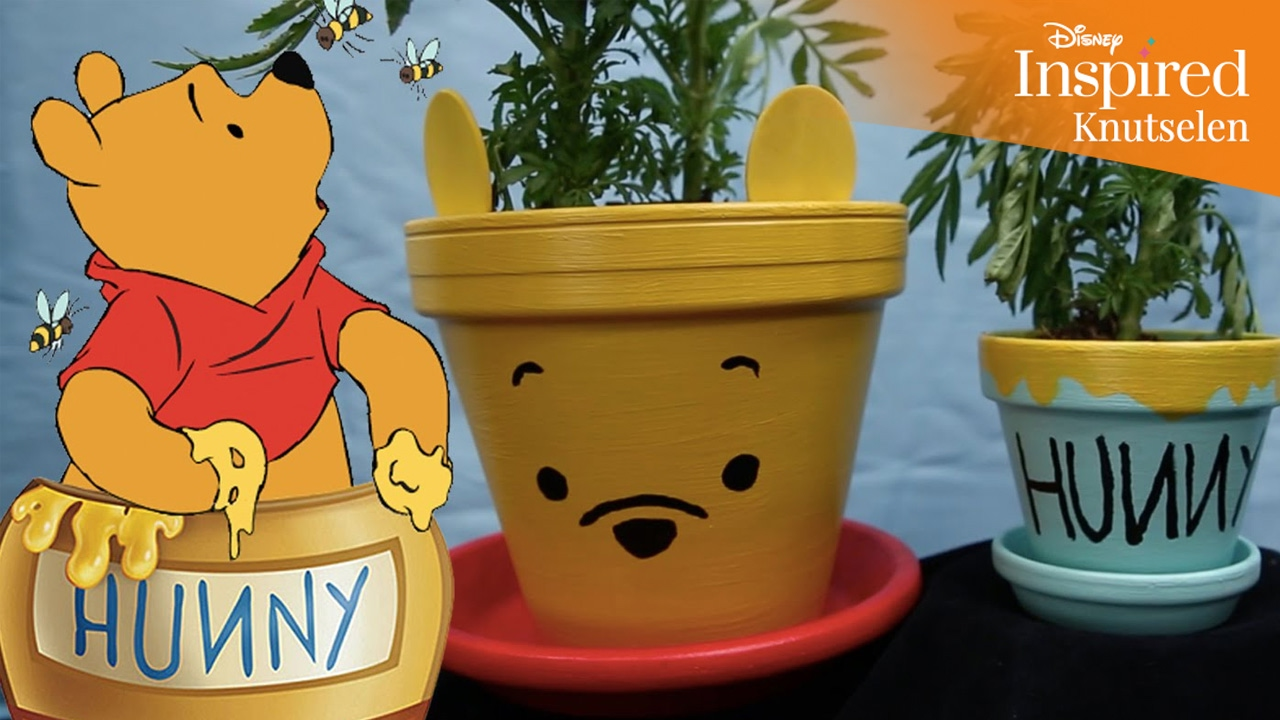 Bedwelming Disney Inspired | Knutselen: Winnie de Poeh bloempotten | Disney #GO07