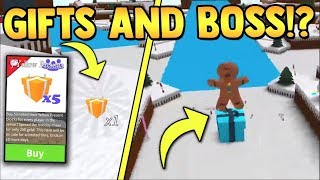 Gifts & Gingerbread Boss!!🎁 (coming Soon)   Build A Boat For Treasure Roblox