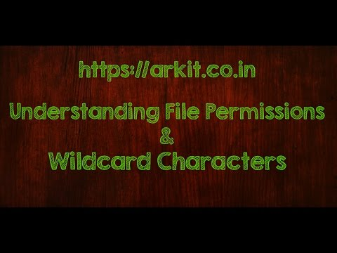 Understanding File and Directory Permissions in Linux. Wildcard characters question Mark and star