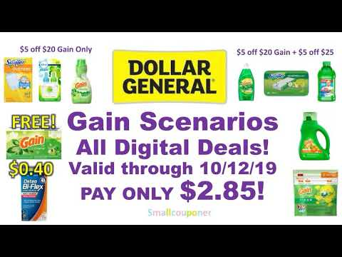 Dollar General Gain Scenarios 10/6/19-10/12/19! All Digital Deals!