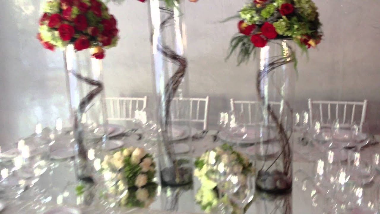 Hermoso centro de mesa para boda youtube for Centros de mesa para salon