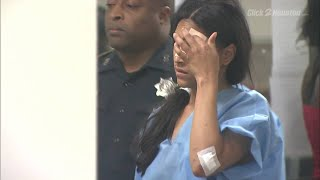 Woman charged in crash with DPS trooper appears in court