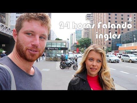 24H Falando somente em INGLÊS com BRASILEIROS