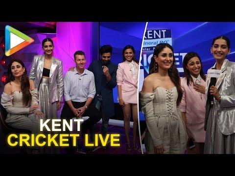 Veere Di Wedding's Kareena Kapoor, Sonam, Swara & Shikha shoot with Brett Lee for Kent cricket live!