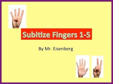 Subitize Practice w/Fingers 1-5