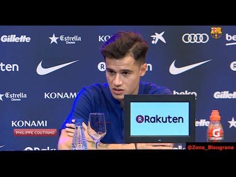 Presentación de Coutinho , rueda de prensa 08/01/2018