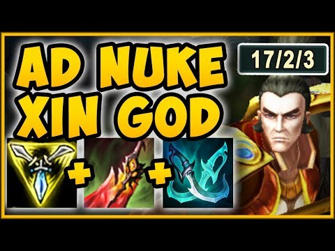 NO SKILL REQUIRED?? ALL OUT DAMAGE XIN ZHAO BUILD = 100% OP XIN ZHAO SEASON 9 - League of Legends