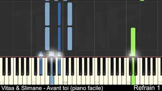 Vitaa & Slimane - Avant toi (Piano facile)