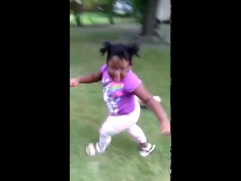 little black girl running from puppy youtube