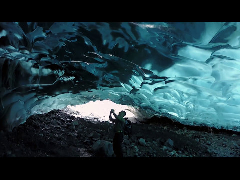 Mendenhall Glacier Ice Caves in Juneau Alaska with a Mavic Drone