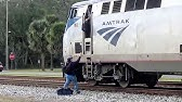 Folkston, GA. - CREW SWAP on the AUTO TRAIN Amtrak P053-16 - 12/17/18