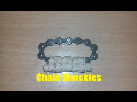How to make knuckles from bike chain.