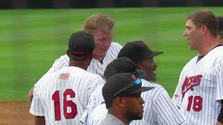6/9/2018: Mat Latos sparks huge, benches-clearing brawl; New Jersey Jackals vs. Rockland Boulders