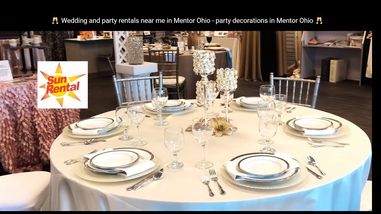 Wedding and party rentals near me in Concord Ohio - party decorations in  Concord Ohio