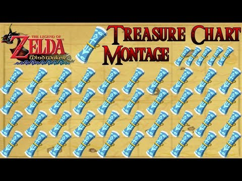The Legend of Zelda The Wind Waker Treasure Chart Montage