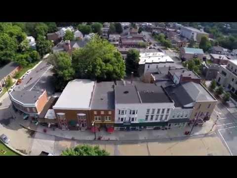 Berkeley Springs West Virginia From Above — Aerial Views