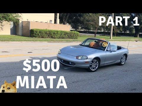 Bought A CHEAP Mazda Miata MX-5 On Craigslist BUY FIX SELL|PART 1|