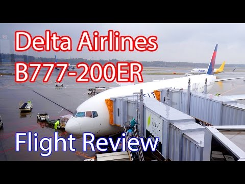 Delta Airlines DL166 B777-200ER Singapore to Narita Review