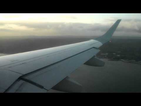 Very Bumpy Approach into Belfast City Airport - Flybe Embraer E195