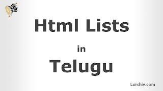 html lists telugu