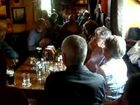 A Traditional Irish music session in County Kerry